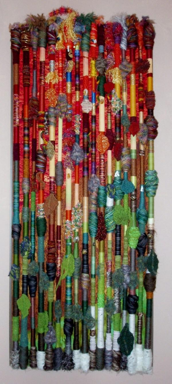 Textile Fiber Art Wall Hanging
