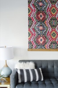 15 Collection of Diy Large Fabric Wall Art