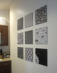 15 Inspirations of Fabric Covered Squares Wall Art
