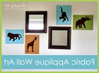15 Ideas of Fabric Applique Wall Art