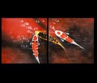 15 Ideas of Koi Canvas Wall Art