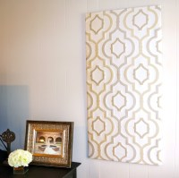 15 Photos Diy Fabric Panel Wall Art