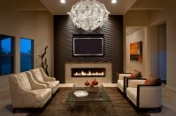 Top 15 of Wallpaper Living Room Wall Accents