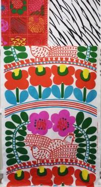 The Best Marimekko 'karkuteilla' Fabric Wall Art
