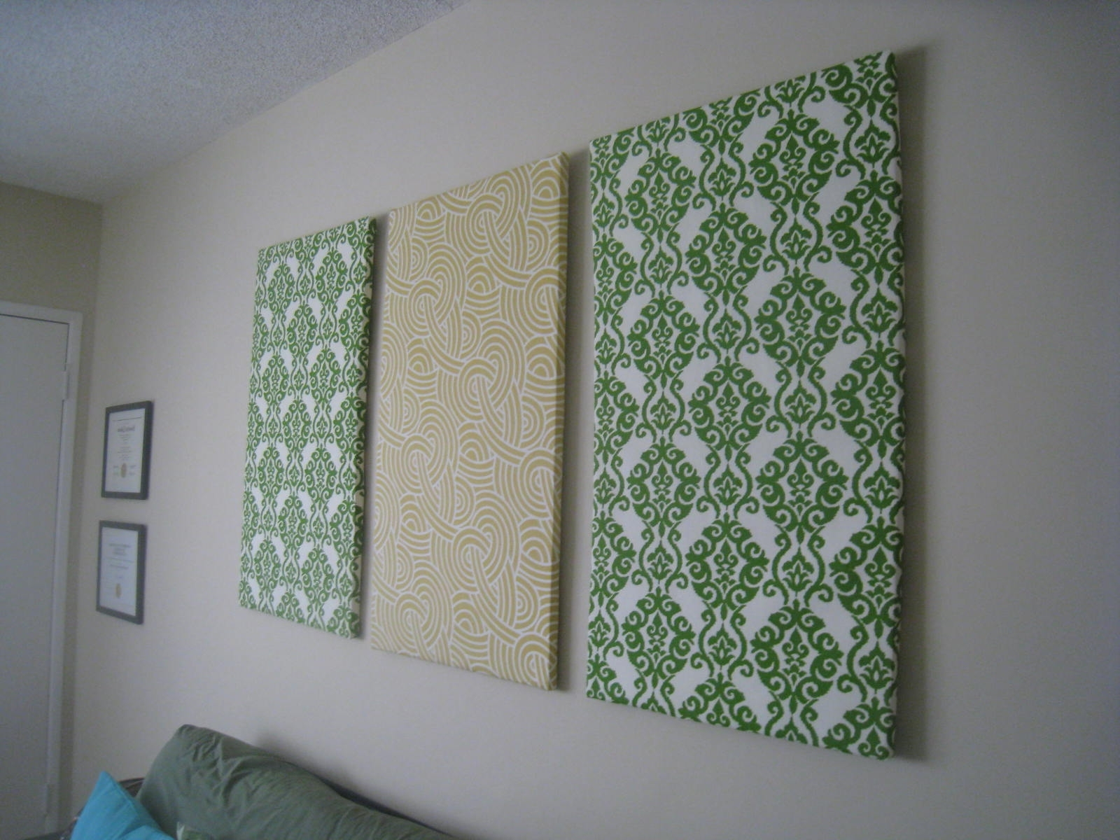 Photo Gallery Of Diy Framed Fabric Wall Art Showing Photos