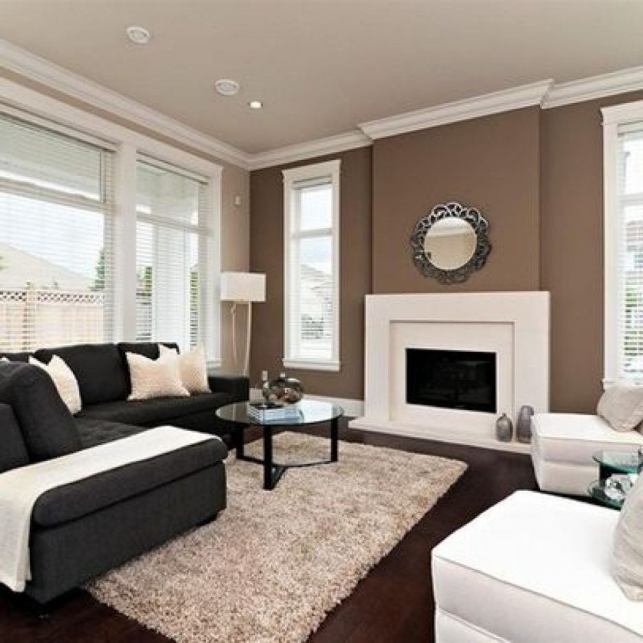 Living Rooms With Brown Accent Walls
