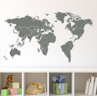 20 Collection of Vinyl Wall Art World Map