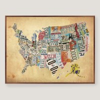 20 The Best Usa Map Wall Art