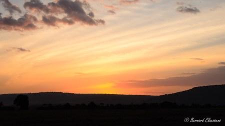 Coucher de soleil...Au revoir Masaï Mara...