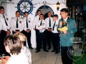 Schützenkönig S.M. Peter III. Cremerius auf dem Königsehrenabend 1998.