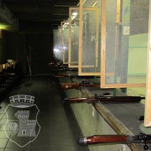 Die Gewehre auf dem Schießstand Stadtmitte.