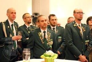 Bernardiner beim Oberstabend. Endlich mal wieder in Uniform!