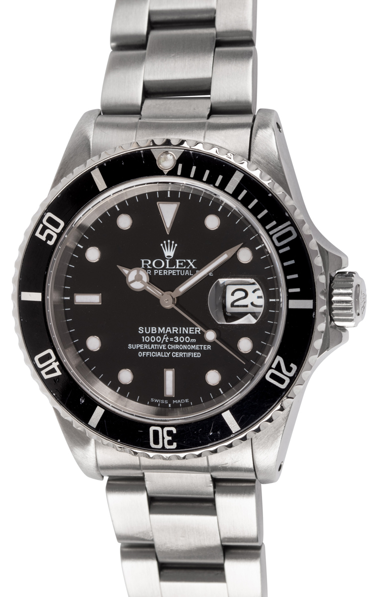 Rolex - Submariner Date : 16610 : SOLD OUT : black dial on Heavy Oyster Bracelet