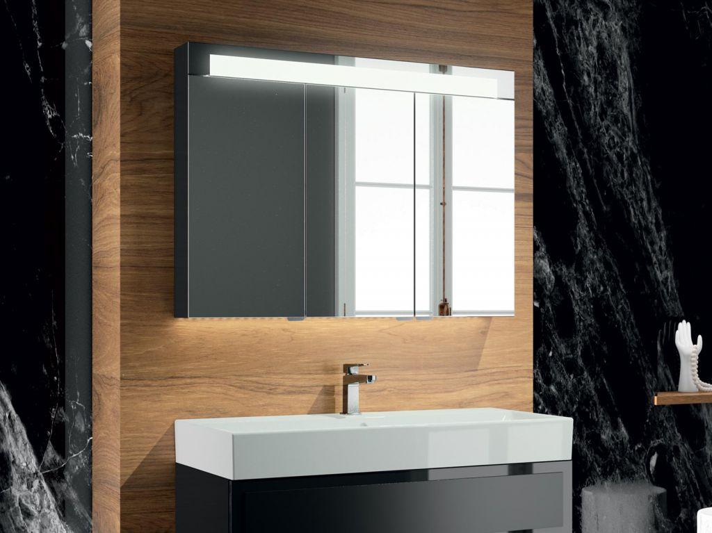 Armoire De Toilette Elite 150cm 3 Portes Miroir Coloris Au Choix Decotec Ref 1307041