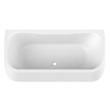 baignoire garbo 180x80cm avec tablier integre blanc leda ref l16gam0201