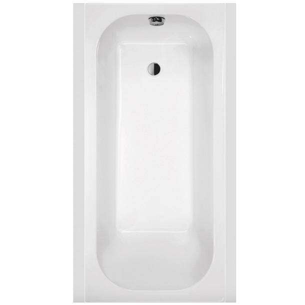 baignoire rectangulaire frisbee 120x70cm blanc leda ref l16fr3r0101