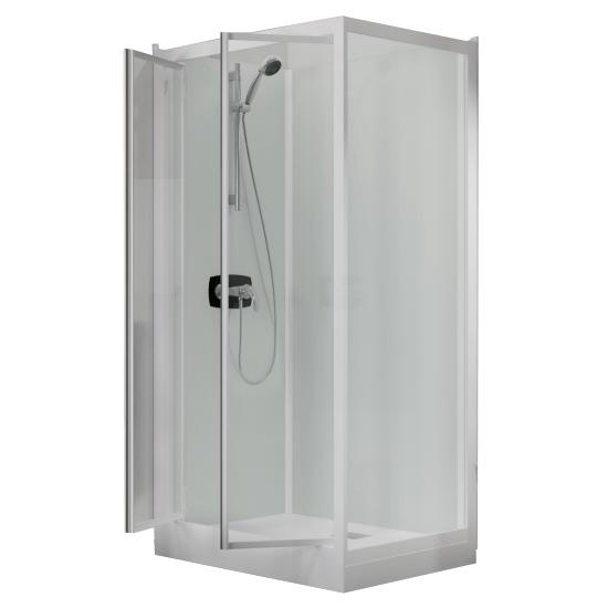 cabine de douche kineprime glass c angle 70x70 2 portes pivotantes mitigeur mecanique receveur 9cm kinedo ref ca901mtn