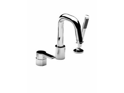 mitigeur bain douche sur gorge singulier 3 trous chrome jacob delafon ref e10873 cp
