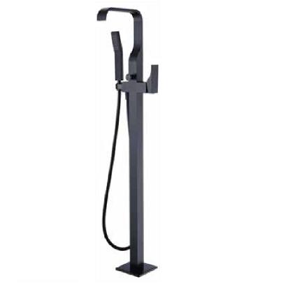 mitigeur bain douche sur pied daly noir mat o design ref np30nm