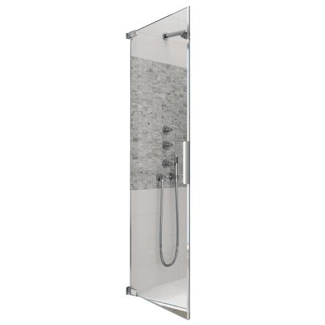 porte pivotante d angle kinequartz equerres a p 80cm charnieres gauche verre transparent kinedo ref pa8190c2ceg