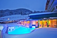 Heated outdoor pool at the Hotel in Zell am See. - Hotel ...