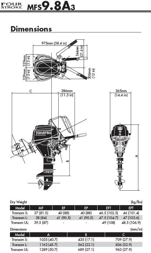 MOTEUR HORS BORD TOHATSU 9.8 CV BI_CYLINDRES