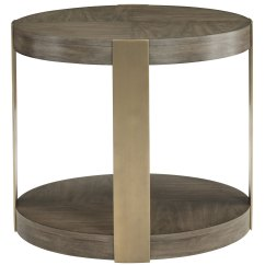 Chair Side End Table Folding Leg Covers Round Chairside | Bernhardt