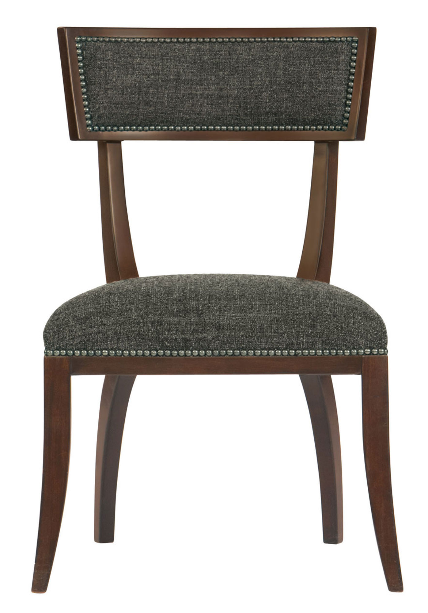 upholstered chair with nailhead trim cheap folding covers dining side | bernhardt