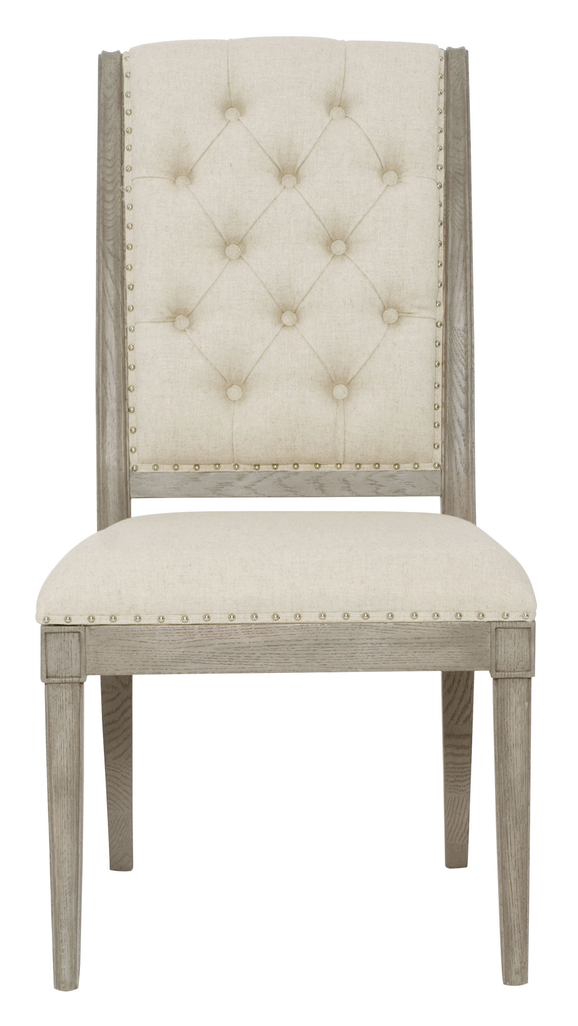 grey tufted dining chairs canada inkbed hydraulic tattoo chair side bernhardt