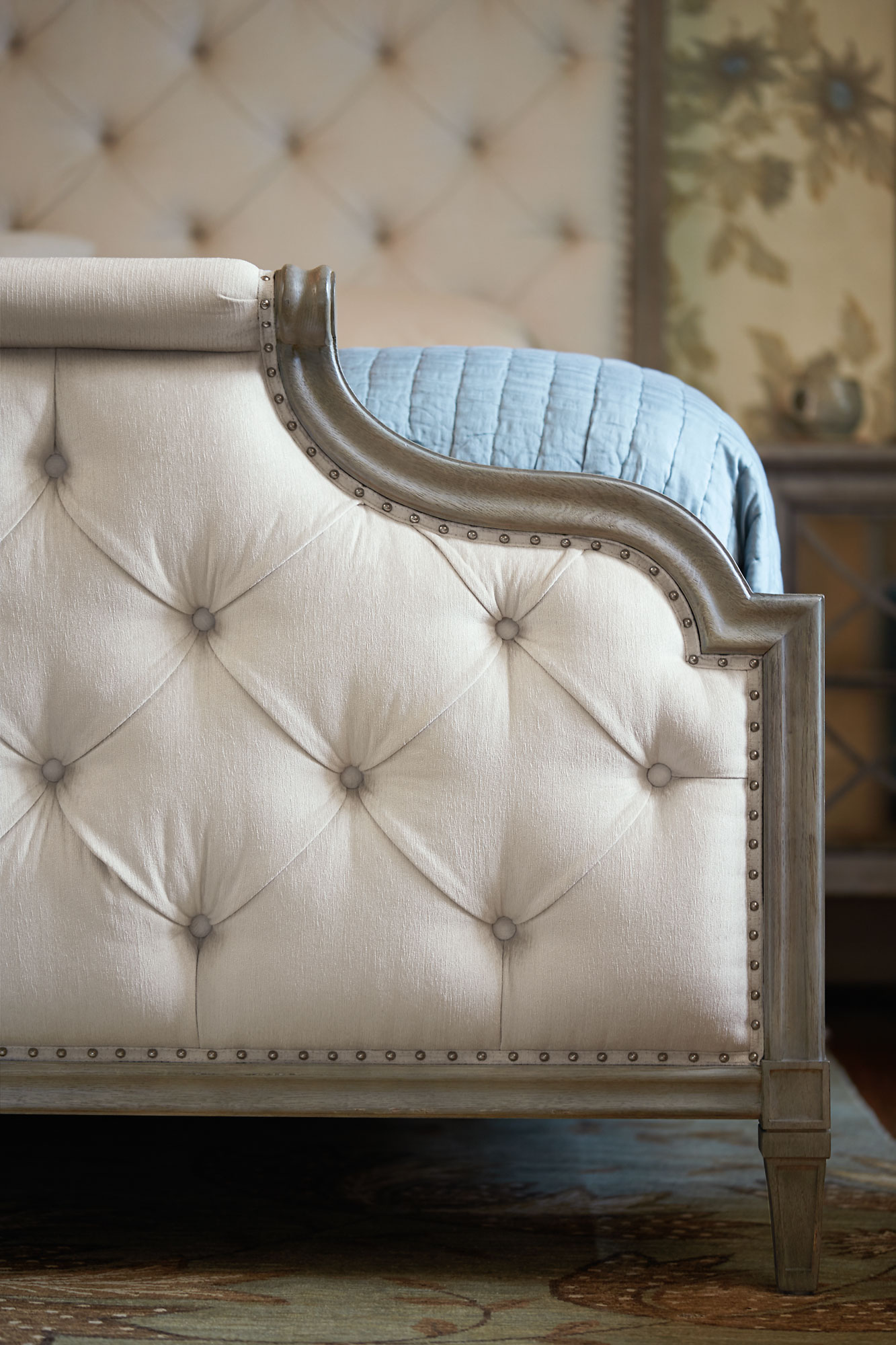 leather living room chairs wall paint design for small upholstered bed | bernhardt
