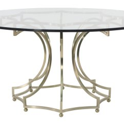 Round Glass Kitchen Tables How To Reface Cabinets Dining Table Bernhardt