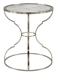 Round Metal End Table