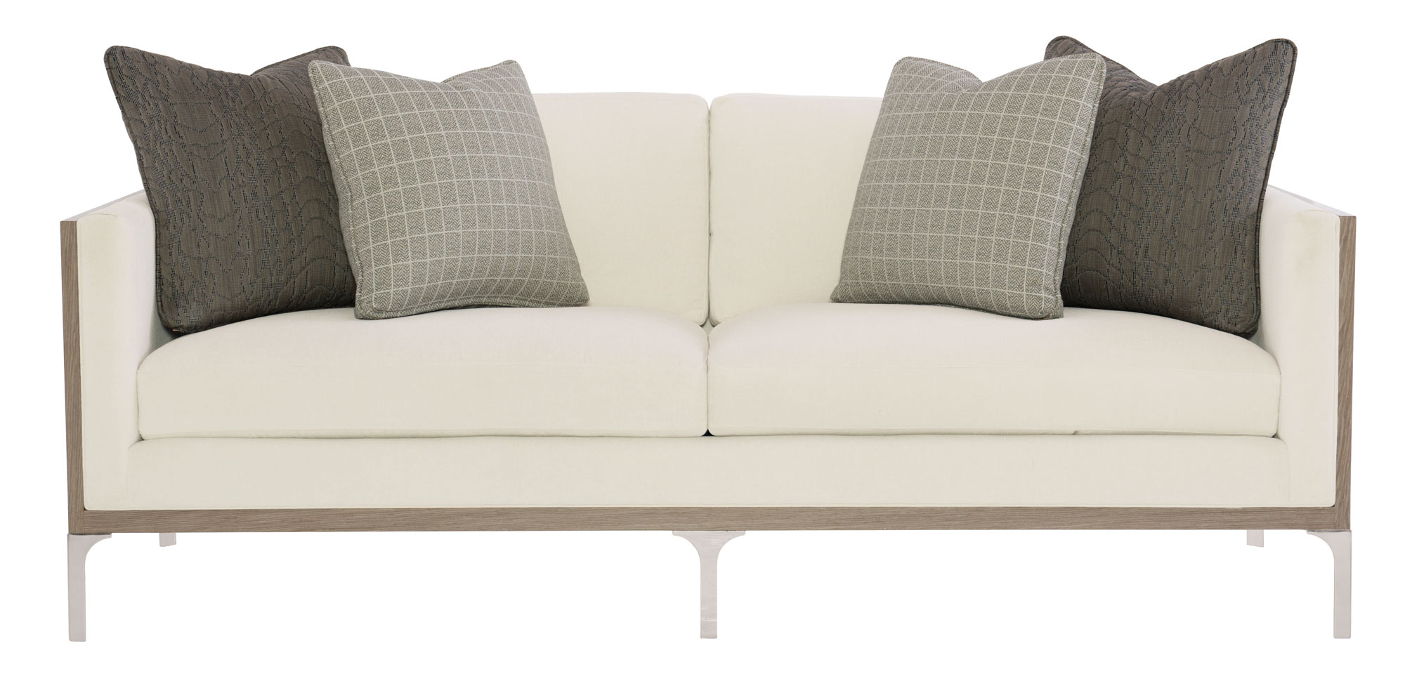bernhardt sofa leather and fabric charcoal grey what color walls gage