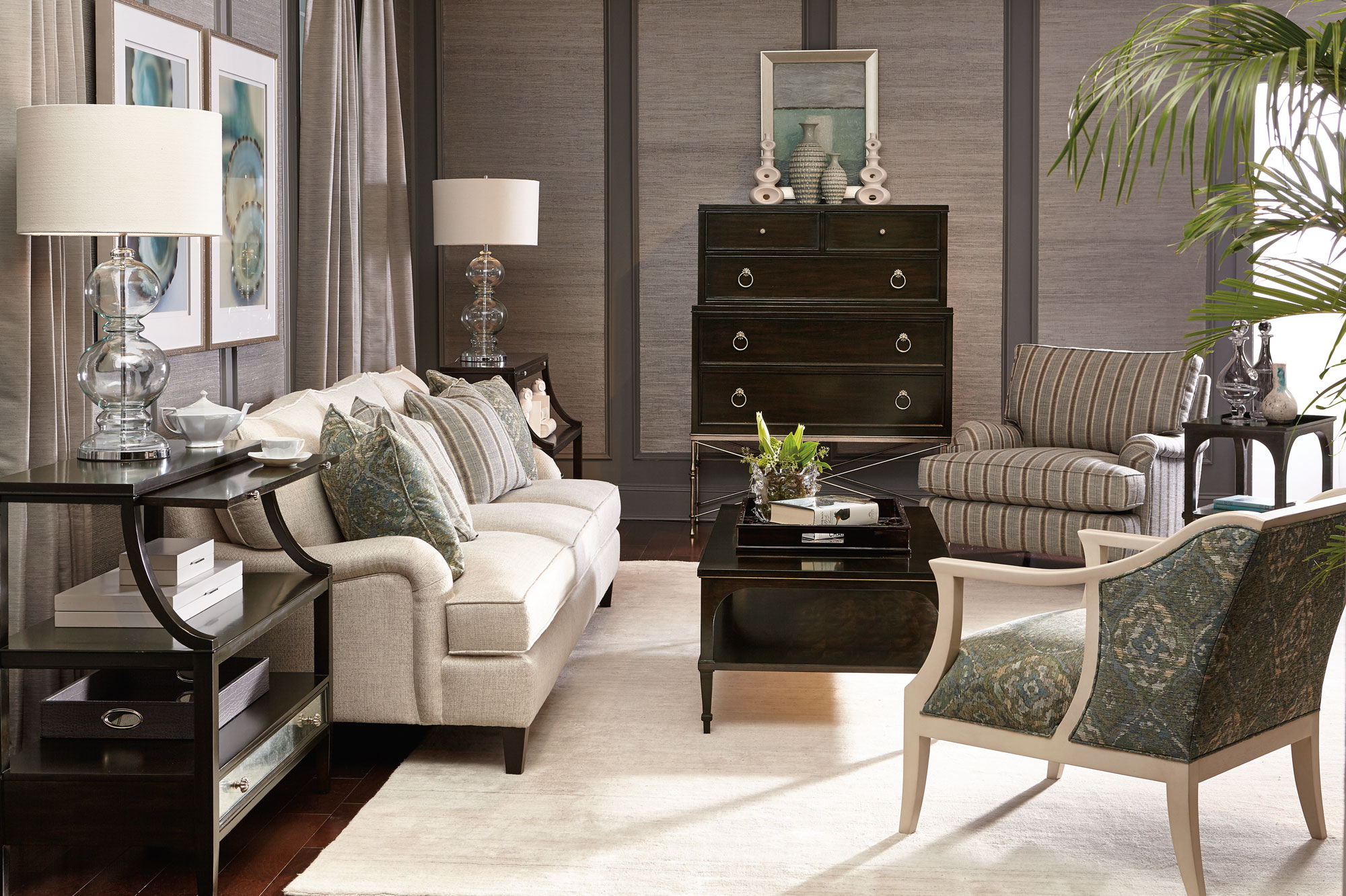 leather nailhead sofa set velvet tufted sleeper sutton house living room | bernhardt