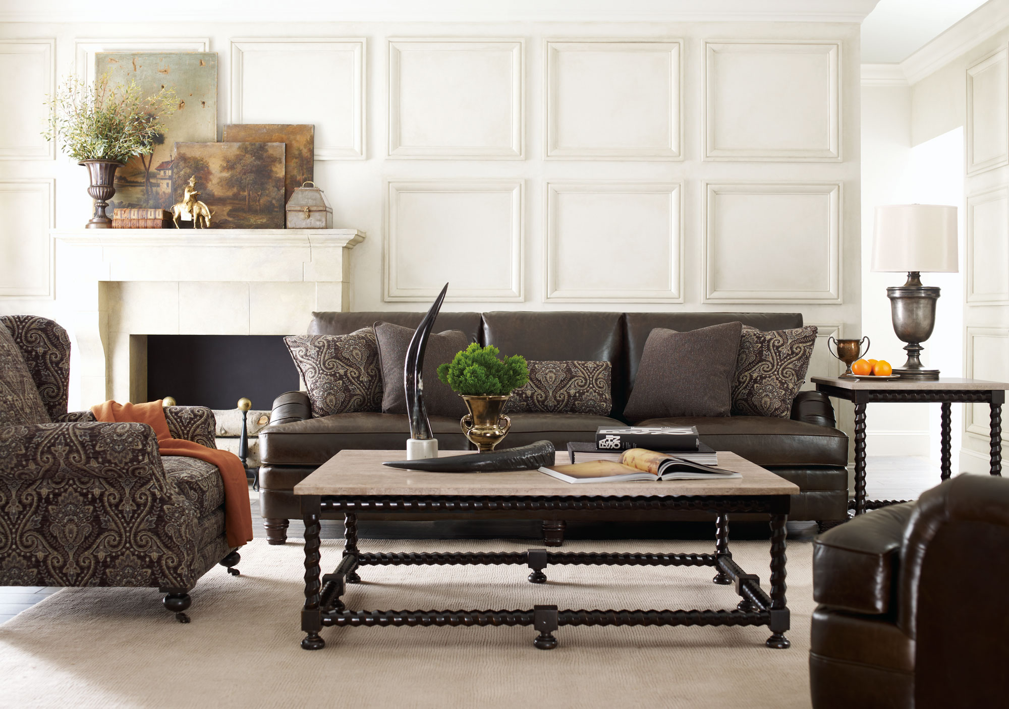 leather sofa outlet world review tarleton sofa, justin chair, cordova tables | bernhardt