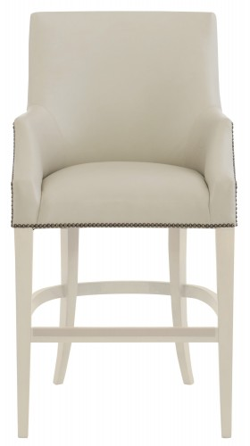 stool chair in malay wood glider dining | bernhardt