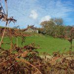 local walk, tumbled down farmhouse, scenic views, ffos y fein