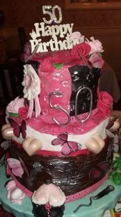 birthday cake, 50th birthday, celebration