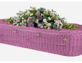 pink willow coffin