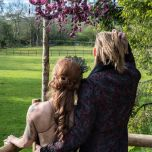 couple on the tree deck