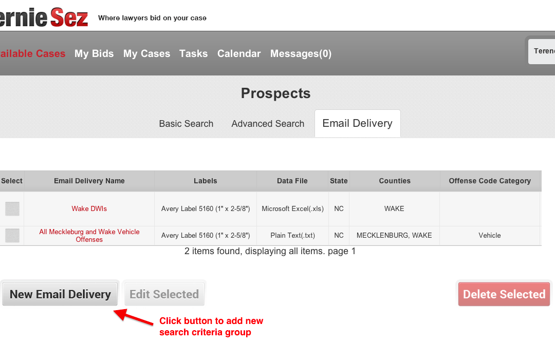 New Feature: Multiple AOC Court Data Email Delivery Search Groups - BernieSez