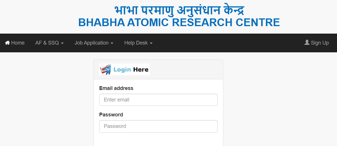 BARC Stipendiary Trainee Online Form 2020