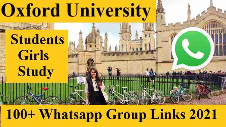 Best Oxford University Study Girls Whatsapp Group Invite Link 2021 International UK USA