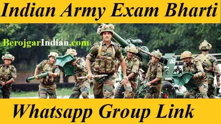 Indian Army Exam Job Rally Bharti Whatsapp Group Link Telegram 2021