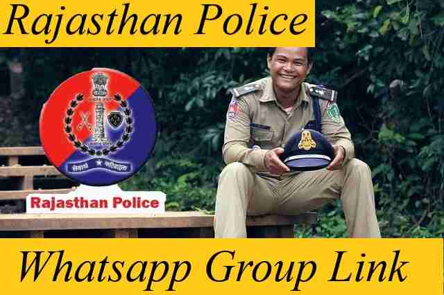 Rajasthan Police Whatsapp Group Link for SI Constable Exam Bharti 2021 Telegram