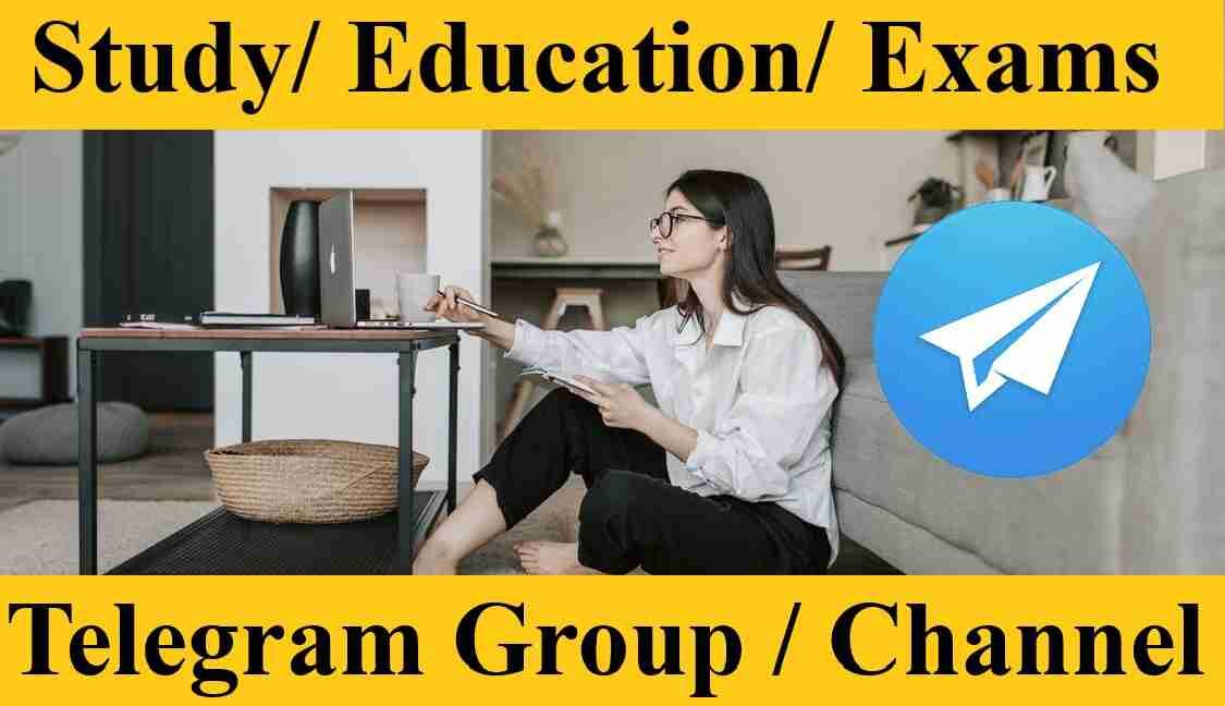 Telegram Study Group Link Channel in Hindi GK Tricks Meterials Education 2021