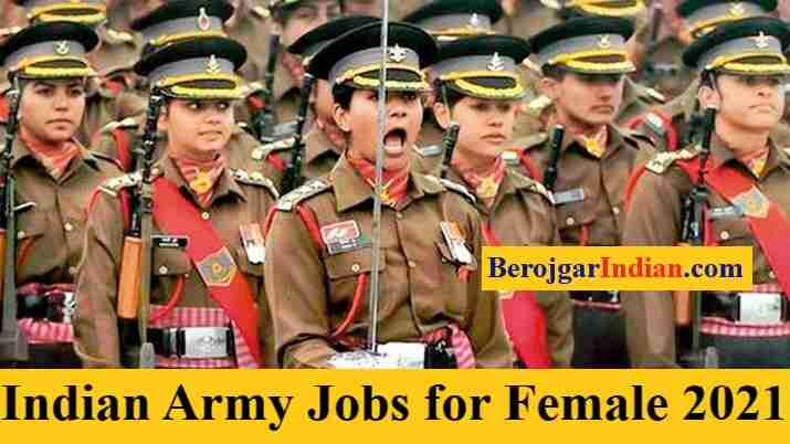 Job for Female in Indian Army Women Bharti Apply Online form Vacancy Details