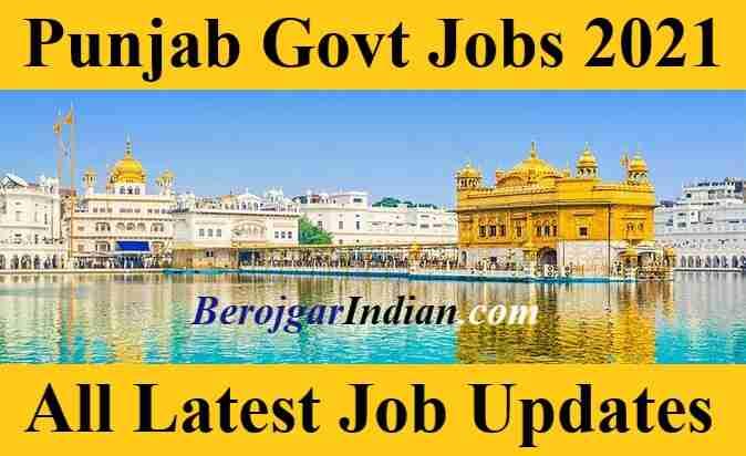 Latest Punjab Govt Job Vacancy Online Form 2021 Bharti Updates