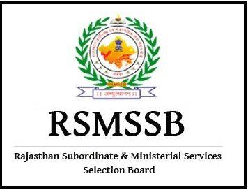 RSMSSB Rajasthan Recruitment 2021-22 Exam Date