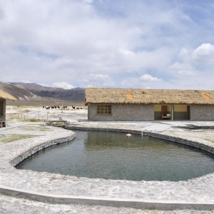 Hot springs, Sajama, Bolivie